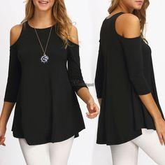 Women Ladies Long Sleeve T Shirt Blouse Top  Casual Loose Tee Tops Wt88