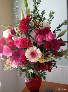 Valentine's flower arrangement