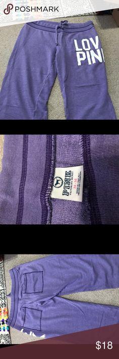 Crop pants Cute crop sweat pants PINK Victoria's Secret Pants Ankle & Cropped
