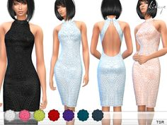 High neckline. Keyhole back. 10 different colors. Custom mesh by me. Found in TSR Category 'Sims 4 Female Everyday'