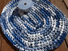 BLUE+WILLOW+DELUXE+KIT #crochet #ragrug #diy