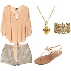 Pretty in peach, created by sassycheerchick on Polyvore