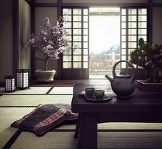 Japanese room made for study. Used Max, Vray and Photoshop Japanese House Interior Design Minimalist, Japanese Interior Design, Asian Design, Japanese Design, Japanese Style House, Japanese Home Decor, Asian Home Decor, Japanese Decoration, Living Room Designs