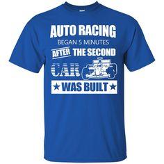 F1 Cars Shirts Auto Racing Began 5 Minutes After Car Was Built T-shirts Hoodies Sweatshirts