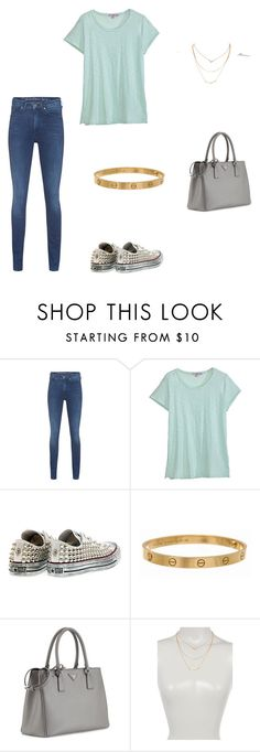"""""""Без названия #932"""" by newyorkstylrer ❤ liked on Polyvore featuring Calvin Klein Jeans, Calypso St. Barth, Converse, Cartier, Prada and Stephan & Co."""