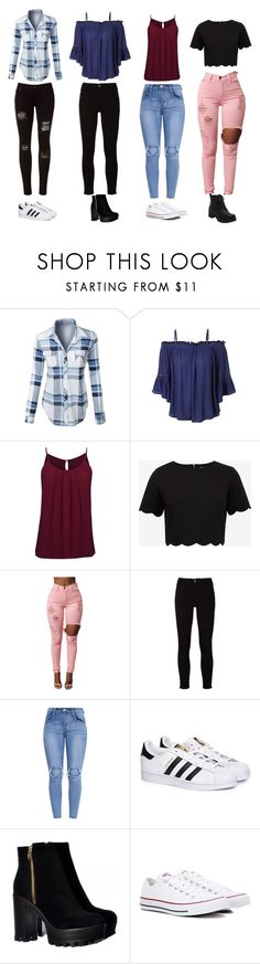 """Casual"" by mc-crusher on Polyvore featuring LE3NO, Ted Baker, Frame, adidas and Converse"