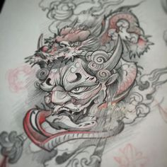 Warm up sketches.... For shits and gigs hit me up if you want this?! Not so serious. #yyc #hannya #dragon