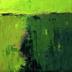 Large Green Abstract Prints, Textured Oil Painting by Nancy Merkle #OilPaintingTexture