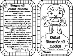 saint francis of assisi coloring page Buscar con Google Teaching