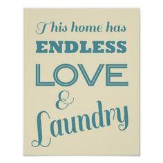 Laundry Room Print.  $21.95