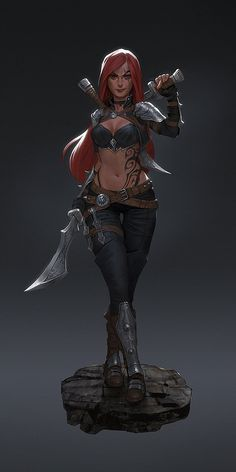 Katarina , Gui Guimaraes on ArtStation at https://www.artstation.com/artwork/katarina-db1eaf66-6370-407c-80fd-69c1d40c31a8