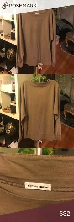 Tomas Maier grey/taupe cotton, long sleeved top Tomas Maier grey/taupe, 100% cotton, long sleeved, loose fitted, lightweight, high quality, top. No flaws! Tomas Maier Tops