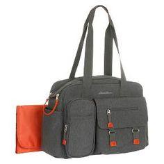 Eddie Bauer Flannel Diaper Bag Grey/Orange : Target