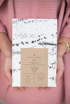 Paint splatter invitations = SO COOL!