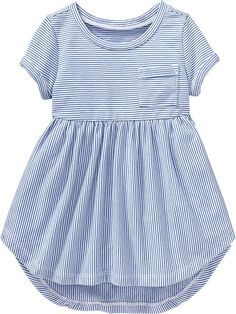 Striped High-Low Terry Dresses for Baby Product Image