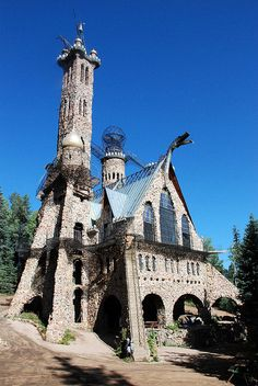 Bishop's Castle in the Wet Mountains of Southern Colorado in the San Isabel National Forest located North West of Rye, Colorado.