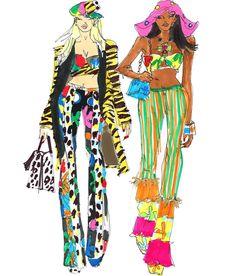 Fashion Design Sketchbook, Fashion Design Portfolio, Fashion Sketches, Fashion Illustration Collage, Arte Fashion, School Fashion, Designs To Draw, Creations, Doodles