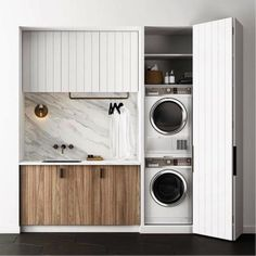 Marble and timber laundry