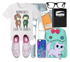 """""""I would wear this!"""" by carogamer ❤ liked on Polyvore featuring Vans, Disney, Casetify, Mead and ThisIsMe"""