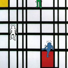 New Educational Space ideas Piet Mondrian, Mondrian Kunst, Middle School Art, Art School, Arte Elemental, Keith Haring Art, Classe D'art, Artist Project, Ecole Art