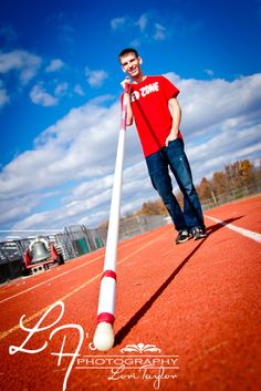 Senior Photos at High School Pole vault