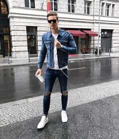 "4,754 Likes, 234 Comments - Chris (@christopherbark) on Instagram: ""All over denim look✔️ Heading to dinner now """