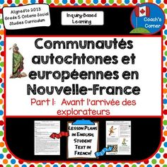 First Nations and Europeans in New France & Early Canada P Study French, Core French, French Teaching Resources, Teaching French, Teaching Ideas, Teaching Social Studies, Student Learning, Geography Of Canada, Curriculum