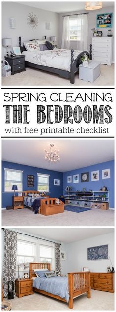 Bedroom Spring Cleaning Checklist - Everything you need to deep clean your bedrooms including a step by step tutorial, lots of tips, and a free printable bedroom spring cleaning checklist!
