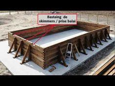 Comment installer une piscine Bois rectangulaire Hors-sol 5 X 10 m - PIVETEAUBOIS Durapin - YouTube