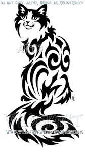"""Résultat de recherche d'images pour """"dessin de chat tribal"""""""