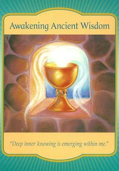 The law of attraction was in my favour when I drew the Awakening Ancient Wisdom card which recognises that a deep inner knowing is emerging.