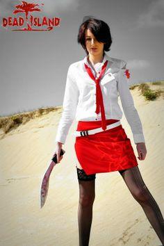 La copslayeuse Emma Diablotine en Xian Mei du jeu Dead Island.  Découvrez sa page = https://www.facebook.com/Emmadiablotinecosplay