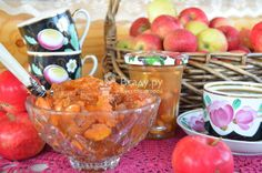 Восточное варенье из яблок, кураги и меда на коньяке