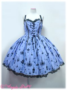 Angelic Pretty - Holy Lantern ((lavender x black))