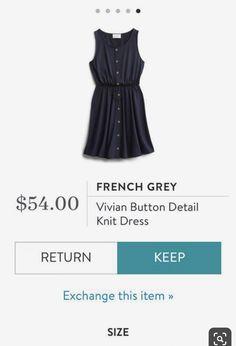What Clients Want: Q&A with a Stitch Fix Stylist Stitch Fix French Grey Vivian Button Detail Knit Dress Stitch Fix Dress, Stitch Fix Outfits, Booties Outfit, Stitch Fit, Knitting Blogs, Knitting Ideas, Stitch Fix Stylist, Knit Dress, Cute Outfits