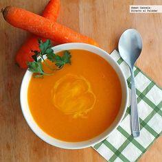 Sopa de zanahoria y apio. Receta