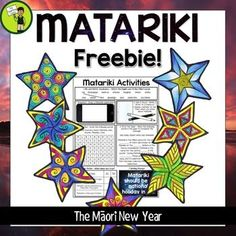 Help your students to learn about Matariki, the Mori New Year, and its significance to NZ (New Zealand) with this free activity sheet. It features seven activities on one page, and is ready to PRINT and GO!Activities included Mix and Match New Years Activities, Educational Activities, Preschool Activities, Maori Legends, Waitangi Day, Maori Words, Activity Sheets, Cloze Activity, Education Templates