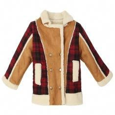 84ec36eacbd61 Description   Baby Children Boys Fur Leather Plaid Jacket Double-Breasted  Coat Specification   Material  Wool