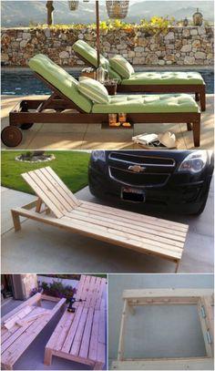 5 Elegant Sunbathing Loungers You Can DIY – FREE Plans