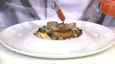 """- Plat / Viande -  Anne vous propose les """"Tagliatelles au foie gras poêlé"""" inspirées de la recette """"Ravioles de foie gras, pommes confites, sauce aux cèpes"""" de Marie-Pierre PAROT"""