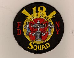 FDNY Squad 18  Old  patch  http://facebook.com /firestore