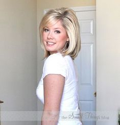 """How to flat iron and get volume. love it! A bump without a """"Bumpit"""""""