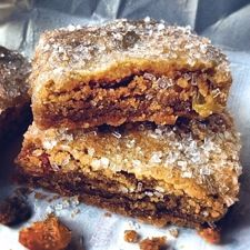 Good 'n' Chewy Hermits.  A favorite old New England recipe that has stood the test of time. Because of their high sugar and fat content, these bars have great keeping qualities; back in the days of the clipper ship, tins of hermits accompanied many a sailor as he set out for the Orient, or far-flung ports in other parts of the world.