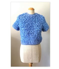 Vintage 60s Pullover Sweater Pop Top S by bigyellowtaxivintage
