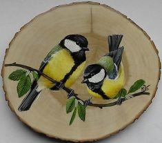 Bird Painting Acrylic, Wood Painting Art, Pallet Painting, Autumn Painting, Pebble Painting, Tole Painting, Acrylic Art, Barn Wood Crafts, Small Canvas Art