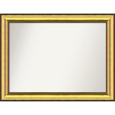 Wall Mirror Choose Your Custom Size - Medium, Vegas Burnished Gold Wood (Outer Size: 37 x 30-inch) (Glass)