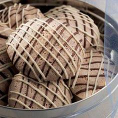 Chocolate Coconut Meringues @EatingWell Magazine