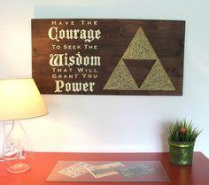 The Legend of Zelda Triforce String Art Sign, Wall Art Decor
