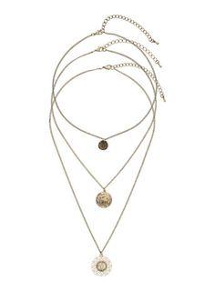 Halskettenset mit drei Münzen gold