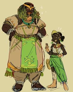 doodled a human orisa idea and efi as a lil' warmup!! i know this is gonna be a popular thing to draw but i wanted to give it my shot!